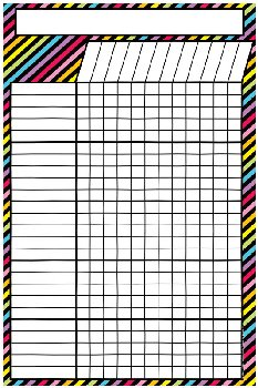 "Magnetic Neon Black Incentive Chart-12""x18"""