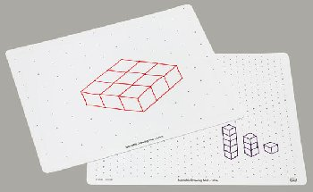 Write-On/Wipe-Off Isometric Drawing Mat