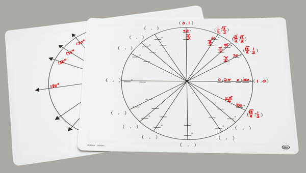 Write-On/Wipe-Off Unit Circle Mat