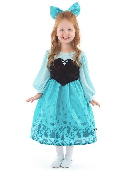 Mermaid Day Dress with Bow - X-Large