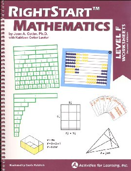 RightStart Mathematics Level F Worksheets 2nd Edition