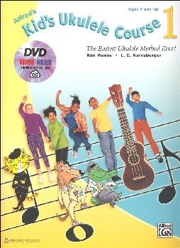 Alfred's Kid's Ukulele Course 1: Book, DVD & Online Audio & Video