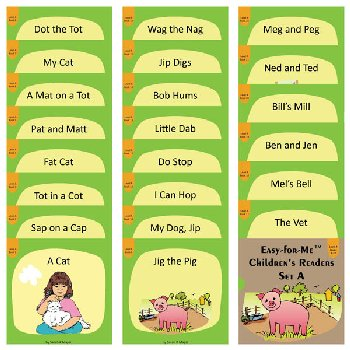 Easy for Me Children's Readers: Set A (22 books)