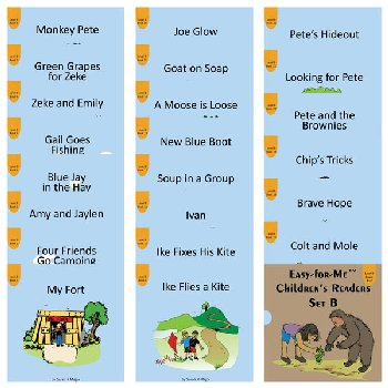 Easy for Me Children's Readers: Set B (22 books)