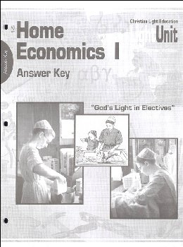 Home Economics 1 Answer Key Units 1-5
