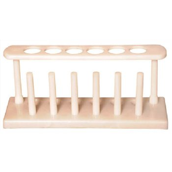 Test Tube Rack with Drying Pins 6 Hole/6 Pin Rack (16mm holes)