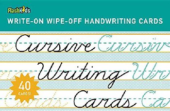 Cursive Writing Write-On Wipe-Off Cards