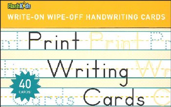 Print Writing Write-On Wipe-Off Cards