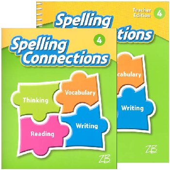 Zaner-Bloser Spelling Connections Grade 4 Homeschool Bundle (2016 edition)