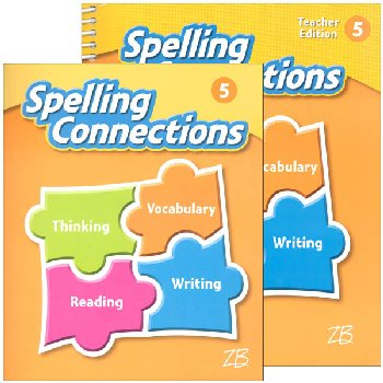 Zaner-Bloser Spelling Connections Grade 5 Homeschool Bundle (2016 edition)