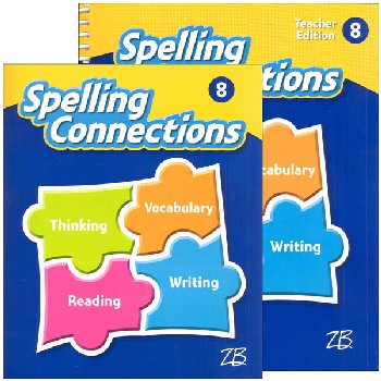 Zaner-Bloser Spelling Connections Grade 8 Homeschool Bundle (2016 edition)