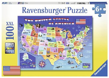 USA State Map Puzzle (100 piece)