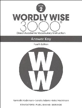 Wordly Wise 3000 4th Edition Key Book 2