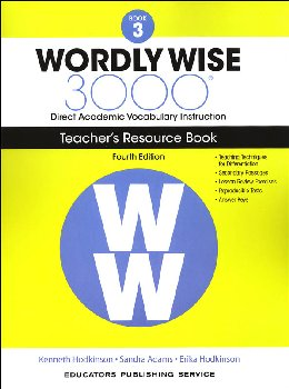 Wordly Wise 3000 4th Edition Teacher Resource Book 3