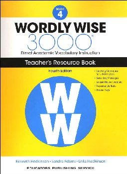 Wordly Wise 3000 4th Edition Teacher Resource Book 4