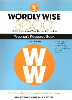 Wordly Wise 3000 4th Edition Teacher Resource Book 5