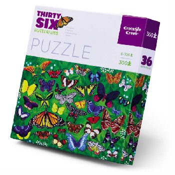 Butterflies Thirty-Six Animals Puzzles (300 pieces)