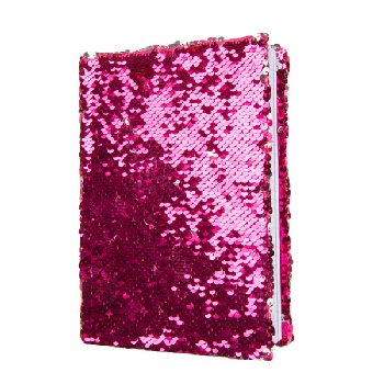 Pink / Silver Magic Sequin Journal