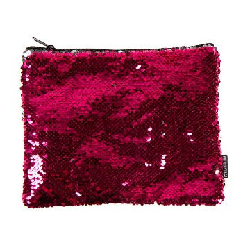 Pink / Silver Magic Sequin Zip Pouch