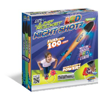 Jump Rocket LED Night Shotz with 3 LED Rockets & Launcher