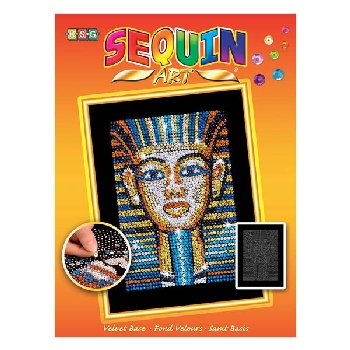 Sequin Art Orange - Tutankhamun