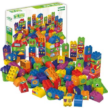 BioBuddies Educational Blocks with 3 Baseplates (100 piece)