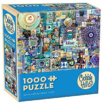 Blue Collage Jigsaw Puzzle (1000 piece)