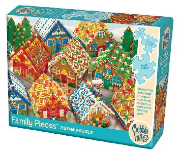 Gingerbread Houses Family Jigsaw Puzzle (400 piece)