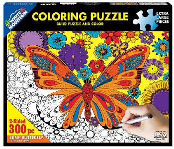 Butterfly Coloring Jigsaw Puzzle (300 piece)