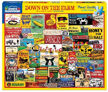 Down on the Farm Collage Jigsaw Puzzle (1000 piece)