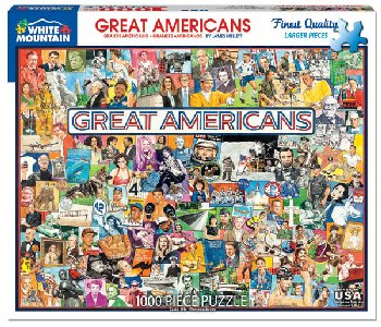 Great Americans Collage Jigsaw Puzzle (1000 piece)