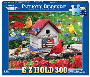 Patriotic Birdhouse E-Z Hold Jigsaw Puzzle (300 piece)