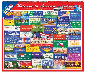 Welcome to America Collage Jigsaw Puzzle (1000 piece)