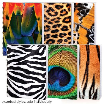 Animal Tex Wide Ruled Dimensional Theme Book Assorted Design