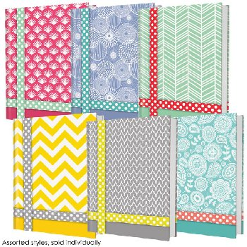 Belle Hard Cover College Ruled Composition Note Book Assorted Playfully Quirky Design