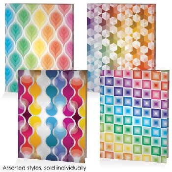 Fashion Poly Portfolios 2 Pocket Assorted Fun & Vibrant Design