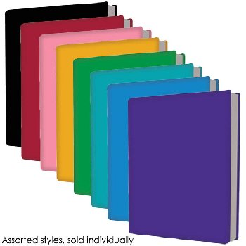 "Stretchable Jumbo Book Cover 9"" x 11"" Assorted Solid Color"