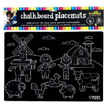 Chalkboard Placemats Mixed Print, Set of 4