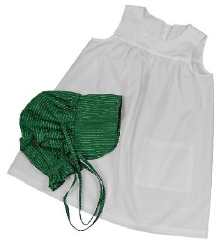 Child's Apron & Bonnet (Little House Dolls & accessories)