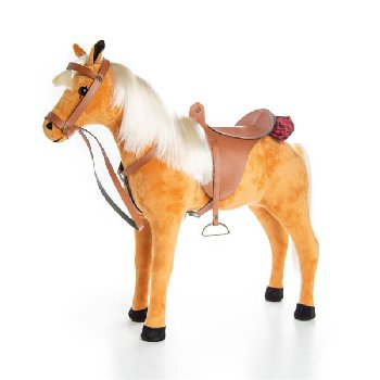 Chestnut Pony with Saddle