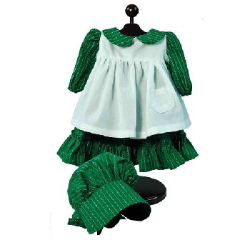 "Prairie Dress / Apron & Bonnet for 18"" Doll (Little House Dolls & accessories)"