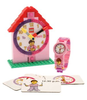LEGO Time Teacher Link Watch & Constructible Clock - Pink