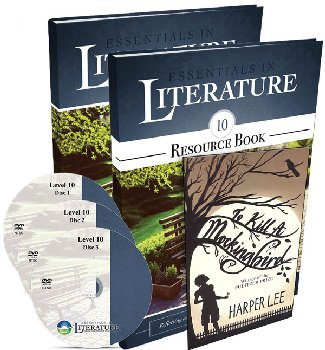 Essentials in Literature Level 10 Combo (DVD, Student Textbook, Resource Book, and Novel)