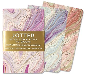 Jotters Mini Notebooks - Agate (set of 3)