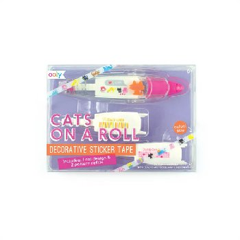 Cats on a Roll Decorative Sticker Tape & Refills