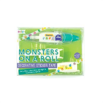 Monsters on a Roll Decorative Sticker Tape & Refills