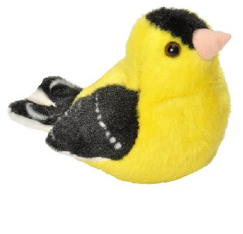 Audubon Bird: American Goldfinch Plush With Real Bird Call