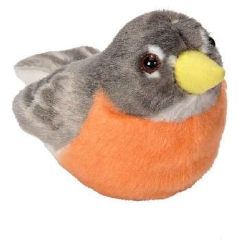 Audubon Bird: American Robin Plush With Real Bird Call