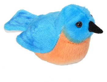 Audubon Bird: Eastern Bluebird Plush With Real Bird Call