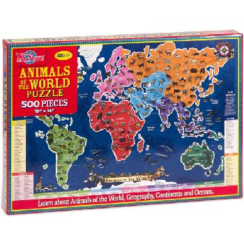 Animals of the World 500-Piece Jigsaw Puzzle